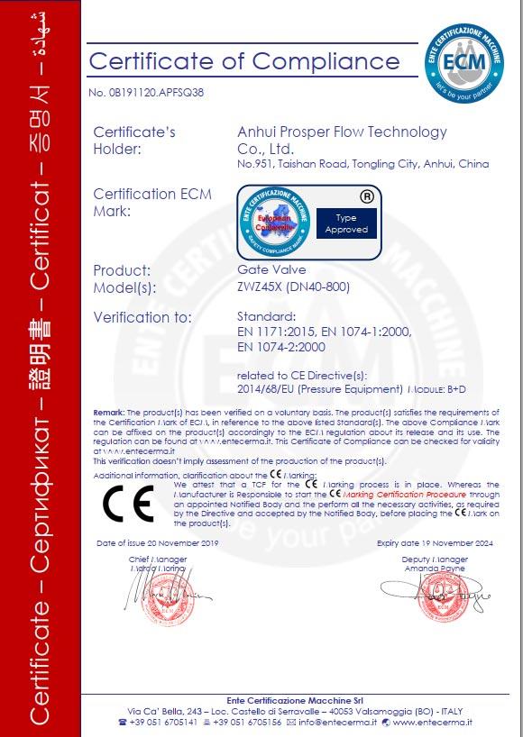 富水流体通过CE认证