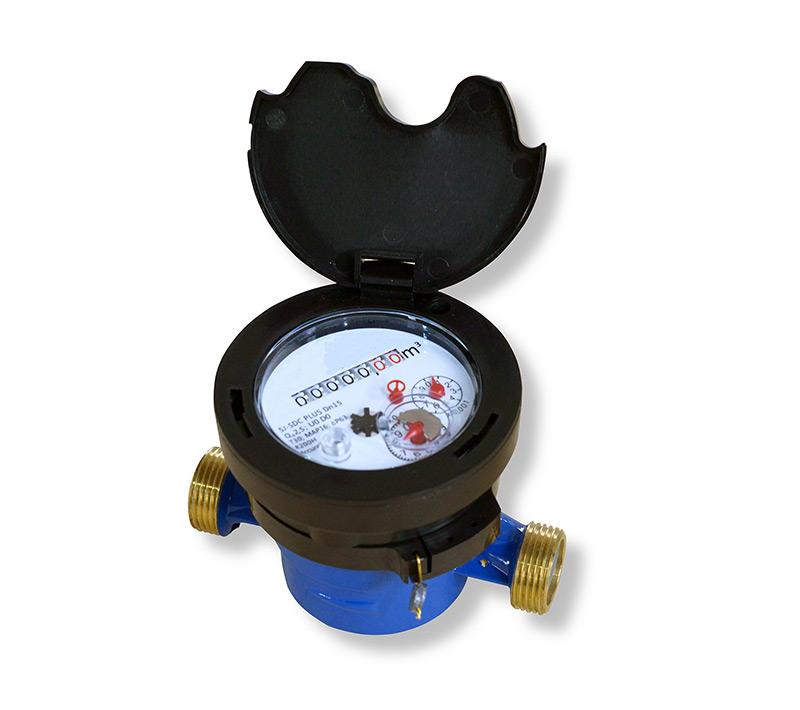单流干式水表 (型号SJ-SDC黄铜阀体)